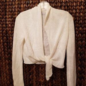 Old Navy Cream Tie Sweater